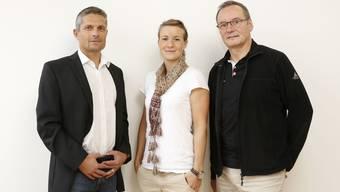 Velodrome-Mannschaft mit Peter Wirz, Michele Tanner und Beat Zbinden