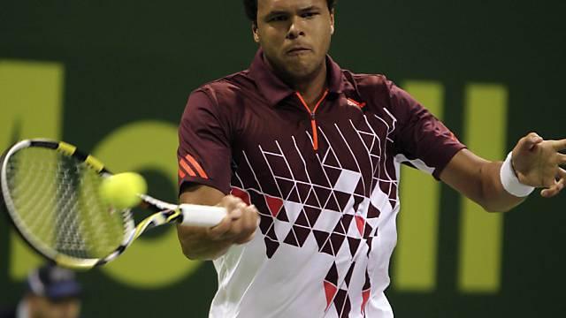 Jo-Wilfried Tsonga startete in Doha erfolgreich ins neue Jahr