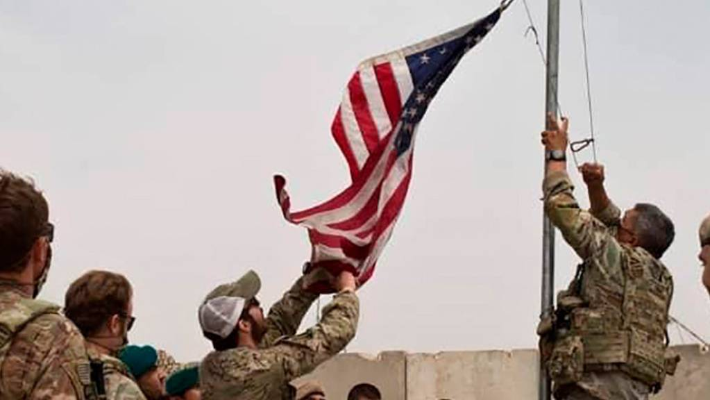Übergabezeremonie der US-Armee an die afghanische Nationalarmee in der Provinz Helmand.