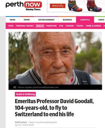 Der Plan Goodalls ist in australischen Medien ein grosses Thema.