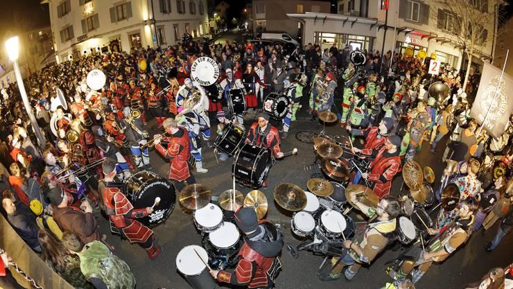 In Muri findet in regelmässigen Abständen das grösste Guggentreffen der Schweiz statt.