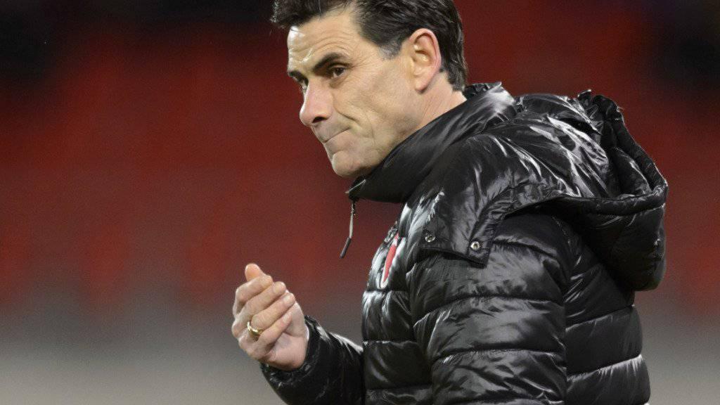 Steht mit dem FC Sion vor einer wichtigen Woche und einem persönlichen Rekord: Trainer Didier Tholot