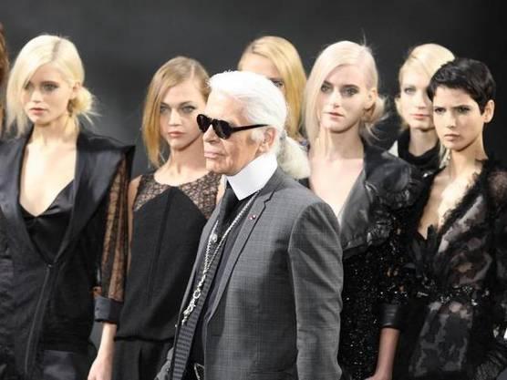 Karl Lagerfeld stellte diese Woche in Paris seine neuste Kollektion vor