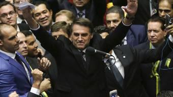 Der rechte brasilianische Präsidentschaftskandidat Jair Bolsonaro erhält Unterstützung von der mächtigen Agrarlobby. (Archivbild)