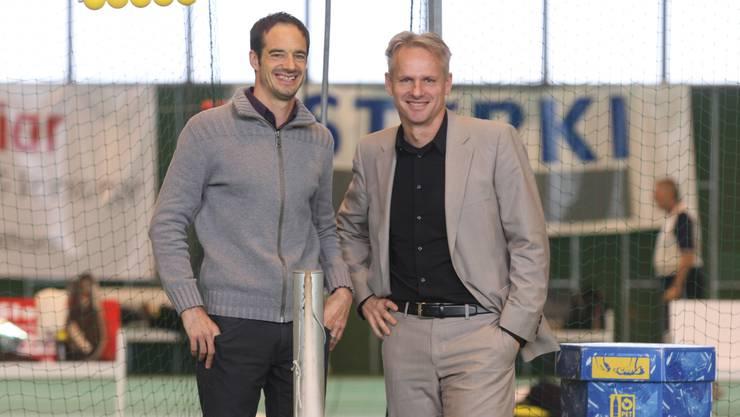 Mathieu Plattner (Geschäftsführer CIS Solothurn) und Rainer Gilg (BPM Sports GmbH)