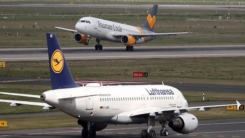 Gewerkschaft UFO ruft zu Streik bei Lufthansa am Sonntag auf. (Archiv)