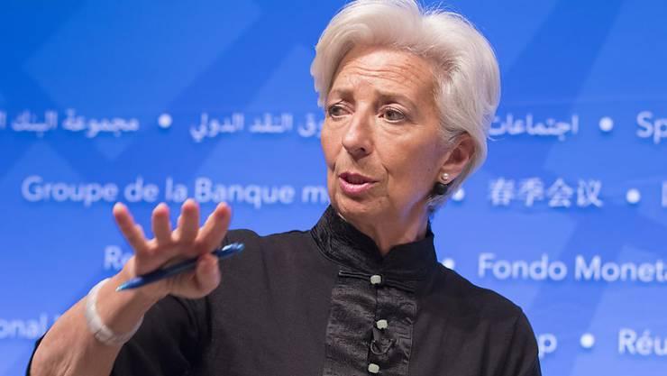 Laut der IWF-Chefin Christine Lagarde fliessen pro Jahr fast zwei Billionen Dollar an Bestechungsgeldern. (Archiv)