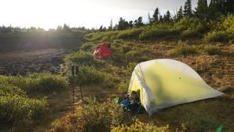 Das Zelt Fly Creek von Big Agnes.