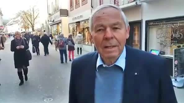 Drohung in Baden: Ehrenbürger Sepp Schmid musste Gebäude verlassen
