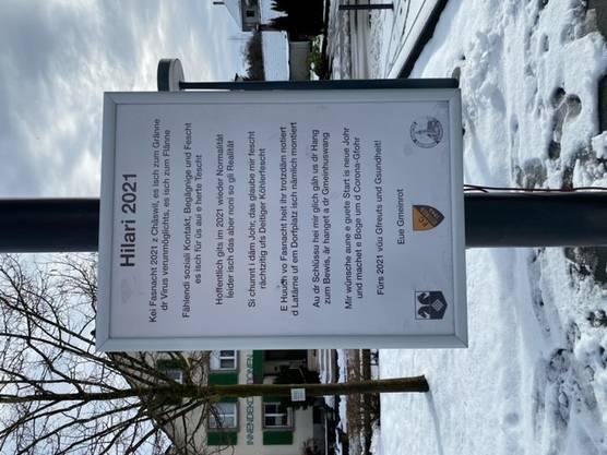 ... erinnert der Gemeinderat Deitingen unter anderem mit einem eigens gestalteten Plakat an die Fasnachtszeit.