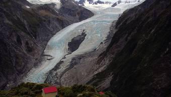 Der Franz-Josef-Gletscher in Neuseeland schleift den Fels schneller als Gletscher in den Polarregionen. (Foto: Handout)