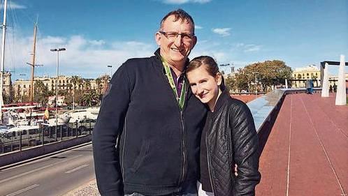Maik Messing und seine Tochter, bevor diese sich dem IS in Syrien angeschlossen hat.