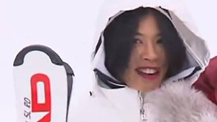 Tausch Geige mit Skis: Vanessa Mae geht für Thailand an die Winter-Olympiade. (Screenshot Youtube)