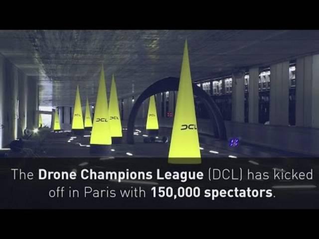 Impressionen von der Drone Champions Leauge in Paris