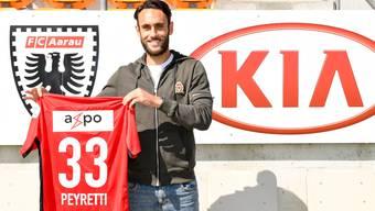 Norman Peyretti hat beim FC Aarau einen Zweijahresvertrag unterschrieben.