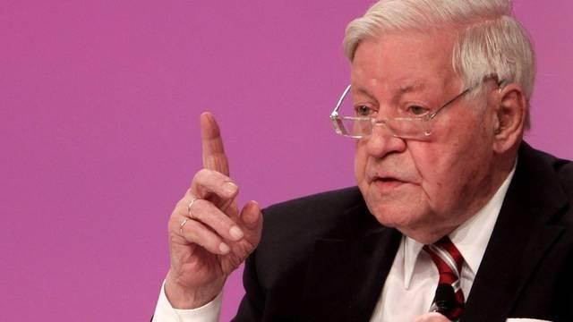 Helmut Schmidt am SPD-Parteitag in Berlin