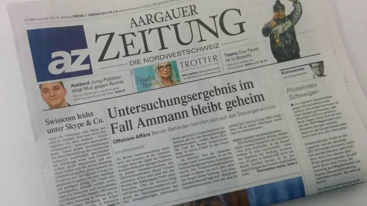 Wegen Druckproblemen erhalten die Regionen Brugg und Frick heute die Ausgabe Aarau. Die az bittet um Entschuldigung.