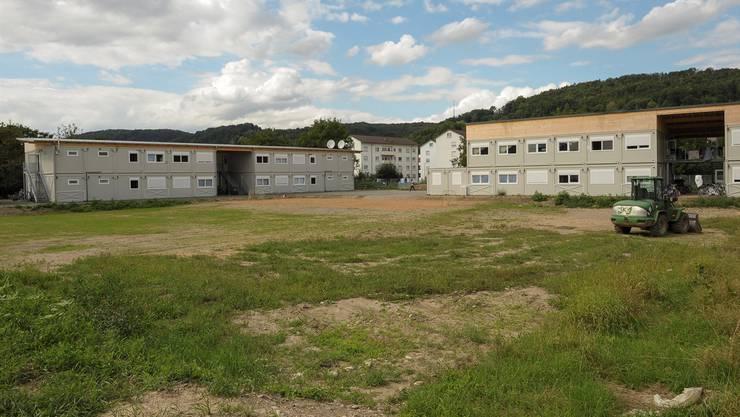 Flüchtlingsunterkunft in Containern in Grenzach-Wyhlen.