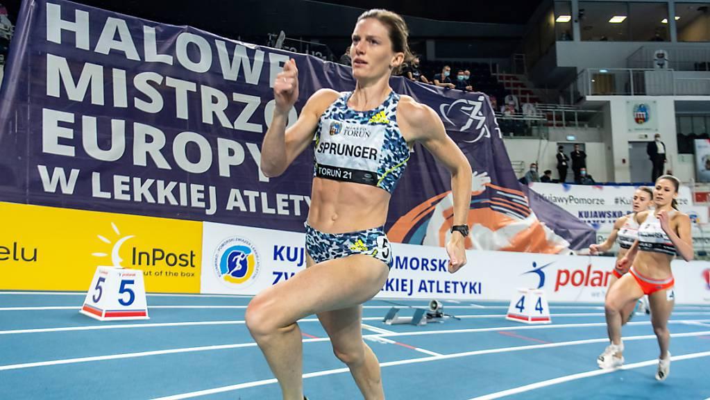 Lea Sprunger, die Hallen-Europameisterin über 400 m von 2019, führt das Schweizer EM-Aufgebot an