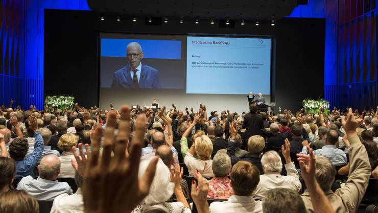 Die 30. Generalversammlung der Stadtcasino AG Baden und die letzte des langjährigen Verwaltungsratspräsidenten Peter Blöchlinger.