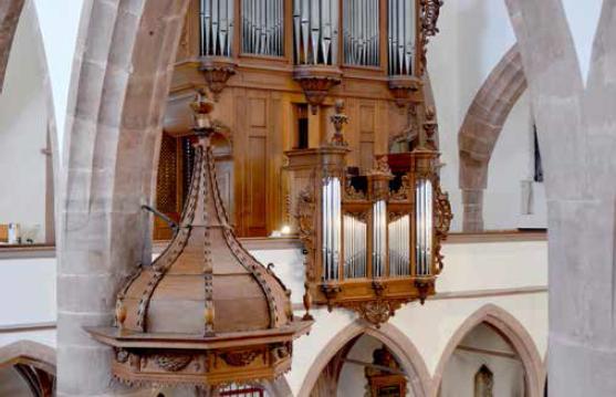 Auf der Führung am Samstag wird die Geschichte der Orgel erläutert. Sie gelang auf Umwegen in die Peterskirche