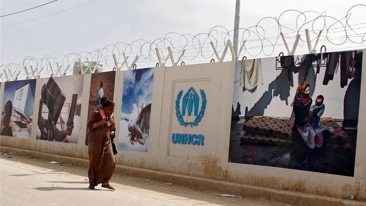 Aus UNHCR-Lagern wie diesem in Jordanien wird umgesiedelt.