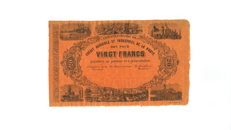 Dieser Schein von 1866 machte Paul Studer zum Banknoten-Sammler. Sie war sein erster Erwerb.