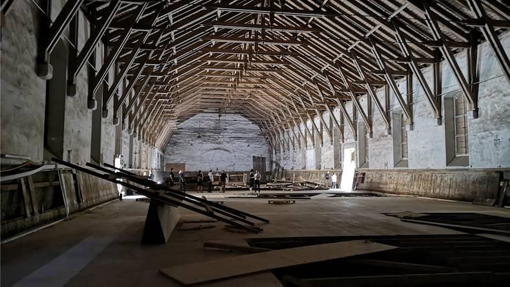 Die ersten Arbeiten waren ein Kulturhappening: So ausgeräumt wie jetzt war die Alte Reithalle noch nie.