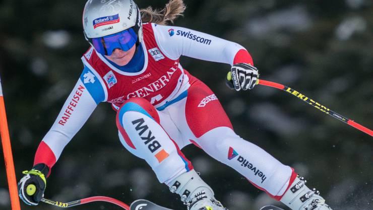 Corinne Suter - in Val Gardena die beste Schweizerin im ersten Abfahrtstraining