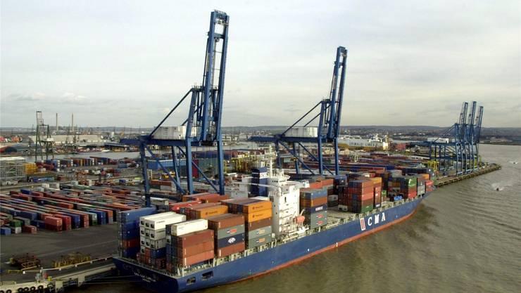 Die Tilbury Docks im Südosten Londons: Grossbritanniens Wirtschaft verliert Experten zufolge an Dynamik. Das hat Folgen auch für Schweizer Unternehmen.KEY