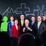 Der Bundesrat mit Viola Amherd (CVP), Simonetta Sommaruga (SP), Guy Parmelin (SVP), Ueli Maurer (SVP), Ignazio Cassis (FDP), Alain Berset (SP) und Karin Keller-Sutter (FDP) – wer käme neu dazu?