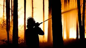 Beim Feuer im Nordosten Deutschlands brannte eine Fläche so gross wie 400 Fussballfelder.