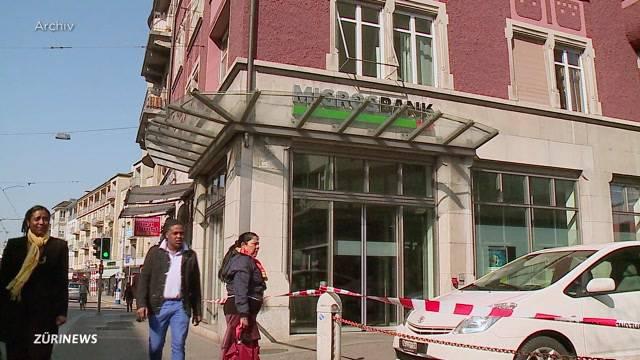 Seltsamer Überfall in Zürcher Migros Bank-Filiale