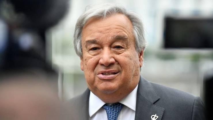 """Die Klimaziele von Paris könnten zwar """"noch immer erreicht werden"""", aber die Zeit dränge, sagte Uno-Generalsekretär Antonio Guterres. (Archivbild)"""