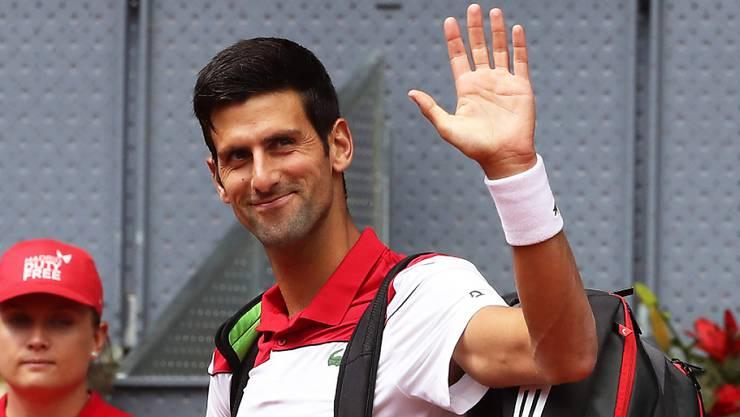 Novak Djokovic hat für einmal wieder gut lachen
