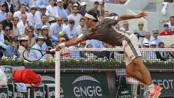 Roger Federer musste sich strecken, war aber erfolgreich