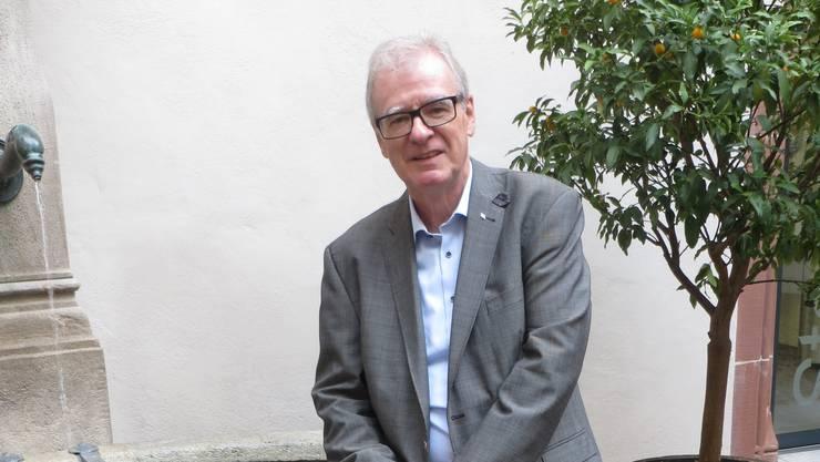«Ich werde mit grosser Zufriedenheit und etwas Stolz zurückzuschauen»: Daniel Vulliamy (SVP) hört Ende Jahr als Grossrat auf.