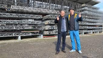 Zirkusdirektor Johannes Muntwyler und Andreas Manz, der das neue Monti-Programm mitentwickelt, freuen sich schon auf die Saison 2019.