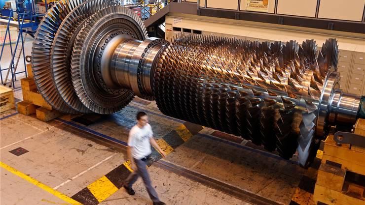 Eine Gasturbine im GE-Werk im französischen Belfort: In den vergangenen sechs Jahren sank die Nachfrage nach der Technologie um den Faktor sieben.
