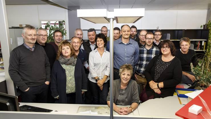 Das Team der Baudirektion Grenchen mit Stadtbaumeister Aquil Briggen