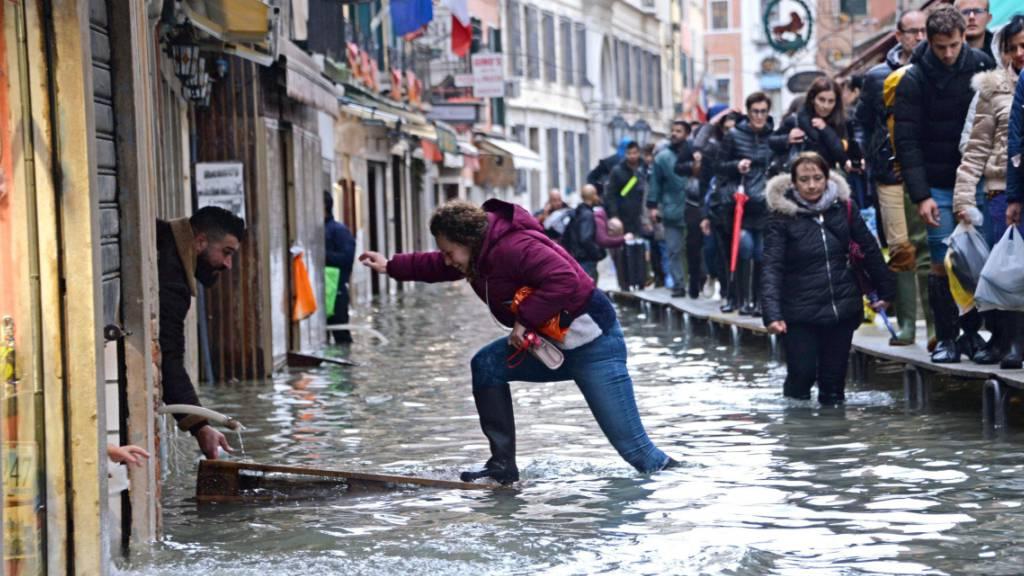 Neuer Regen in Venedig erwartet - Touristen zurück auf Markusplatz