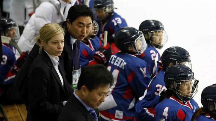 Sarah Murray als Trainerin des Team Korea