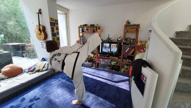Sandra Cox 3. Dan - Taekwon-Do zuhause