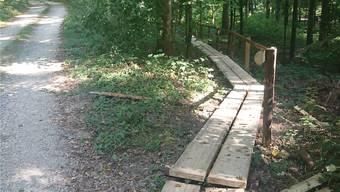 Am Waldfest wird er dann eingeweiht.