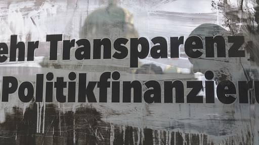 Ständerat befasst sich mit Transparenzinitiative und Gegenvorschlag