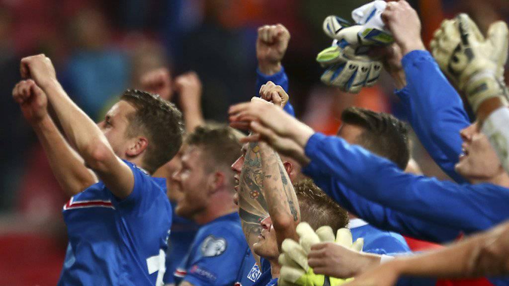 Erstmals an einer EM dabei: Islands Nationalteam