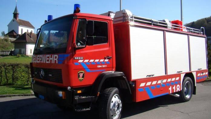 Ein Fahrzeug der Feuerwehr Uerkental. (Archivbild)