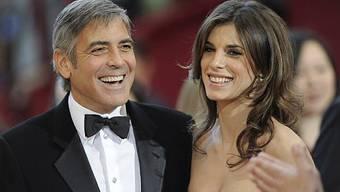 Elisabetta Canalis und George Clooney in Hollywood (Archiv)