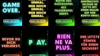 Die Spielsucht-Kampagne «Spielen ohne Sucht» von «SOS Spielsucht Schweiz»
