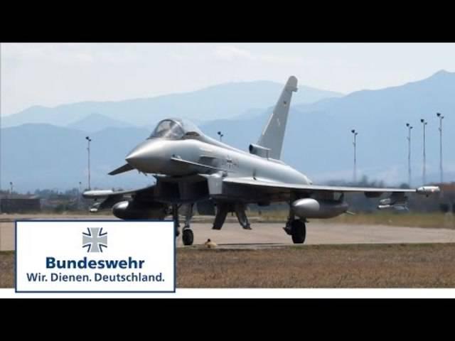 Eurofighter der deutschen Bundeswehr trainieren Luftkampf auf Sardinien